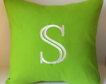 Initial Pillow. Letter Pillow. Monogram Pillow Cover. 18 x 18 Monogrammed Decorative Home Decor. Solid Pillow. Children Playroom. Modern.