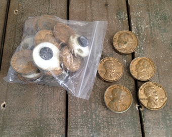 Vintage Chalkware coin magnets