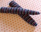 Blythe / DAL Socks - Velvet Pastel Stripes