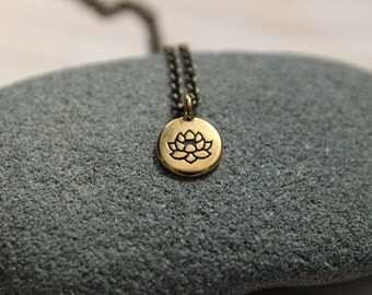 lotus . a soul mantra necklace