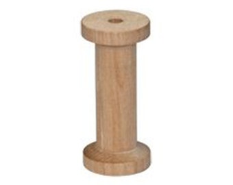 "10- Large Wooden Thread Spools 1-1/4"" x 2-3/4"""