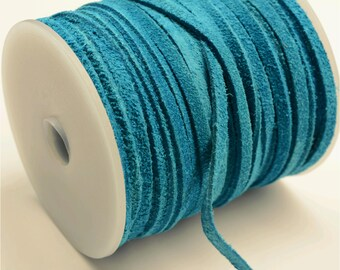 Turquoise Suede Lace Cord - 3mm