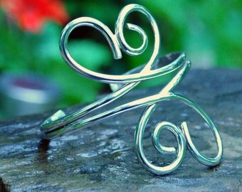 Sterling silver cuff bracelet - I'm Gonna Wrap Ribbons Around You