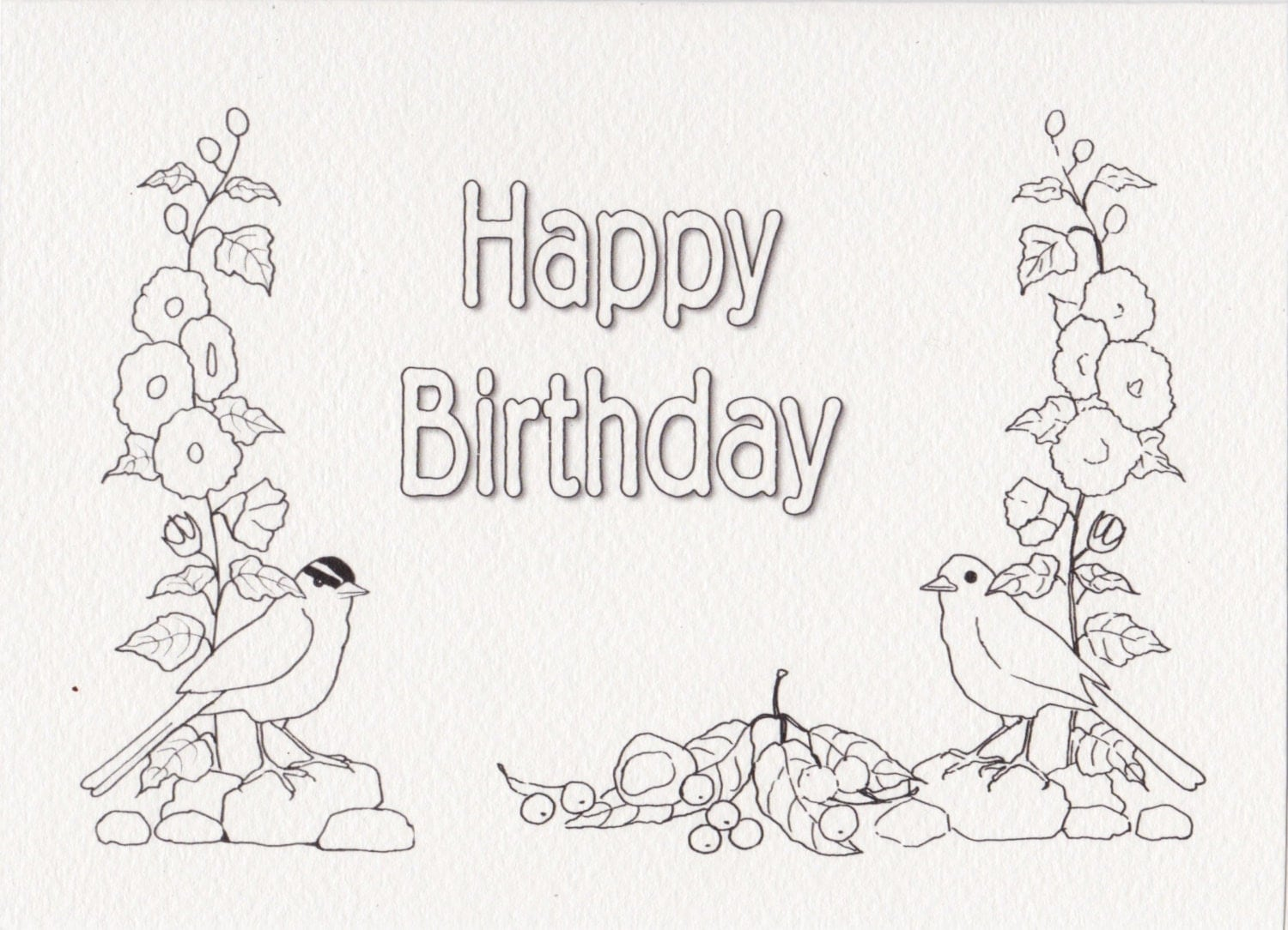 Adult Printable Birthday Cards Coloring Pages