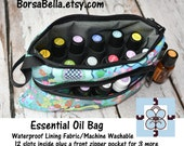 Essential Oils Deluxe Take Along Wristlet Bag by Borsa Bella - Waterproof lining fabric - Front Zippered Pocket - YOU PICK FABRIC