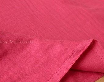 Japanese Fabric - Kobayashi solid TRIPLE gauze - pink - 50cm