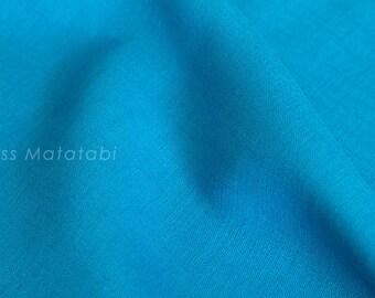 Japanese Fabric 100% linen - teal blue -  50cm