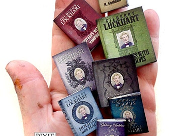Set of 8 Miniature Second Year Hogwarts Textbooks Harry Potter Miniature Lockhart