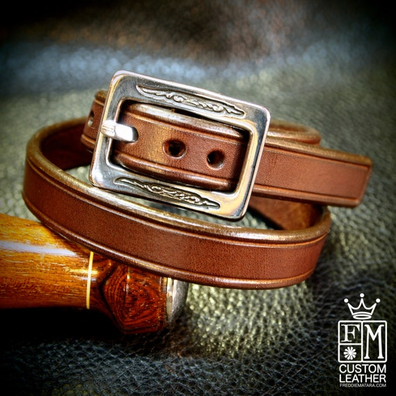 Leather Double wrap Brown bracelet cuff - Lean and Sexy made for YOU in Brooklyn NYC by Freddie Matara!