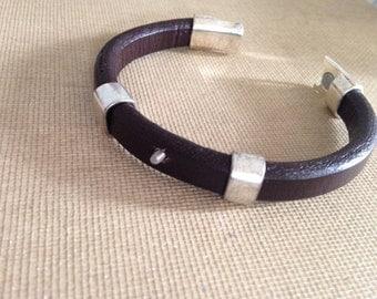 Interchangeable Leather Bracelet Base