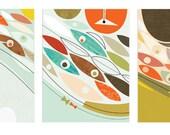 Fish Trio Prints