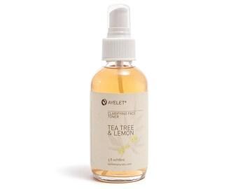 Clarifying Face Toner  Tea Tree Toner  Oily Skin Toner  Acne Pimple Toner  pH Balance Toner  Combination Skin Balance  Natural Skin 4 oz