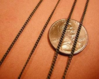 5 feet 1.2 antique bronze lead nickel free chain-2535