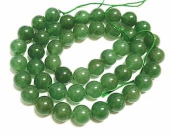 1 strand 8mm Green Aventurine beads-about 48 beads-2174M