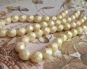 Bohemian Faceted Glass Pearls from Czech Republic(str) b1972