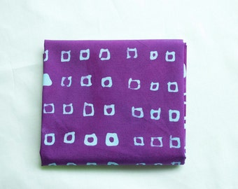 Mini squares hand dyed and patterned fabric