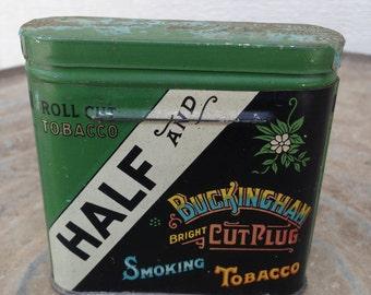 Vintage Half and Buckingham  Tobacco Tin American Tobacco Co