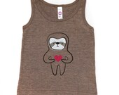 Coffee Sloth Love Tank Top 2T to 6T