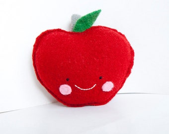 Red Apple Foo - Recyced Wool Sweater Plush Toy