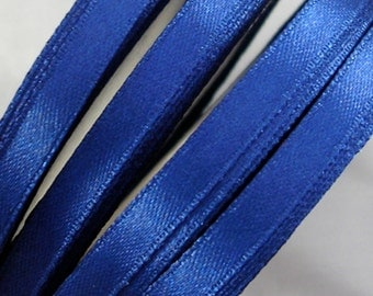 "Satin Ribbon CLOSEOUT SALE  (R44A) 1/4"" Navy Blue - 25 Yard Spool Crafts DIY Wedding Ribbon Wands Streamers Party Decor"