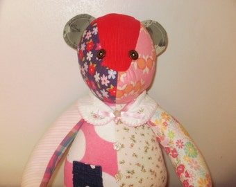 Memory bear out of baby clothing