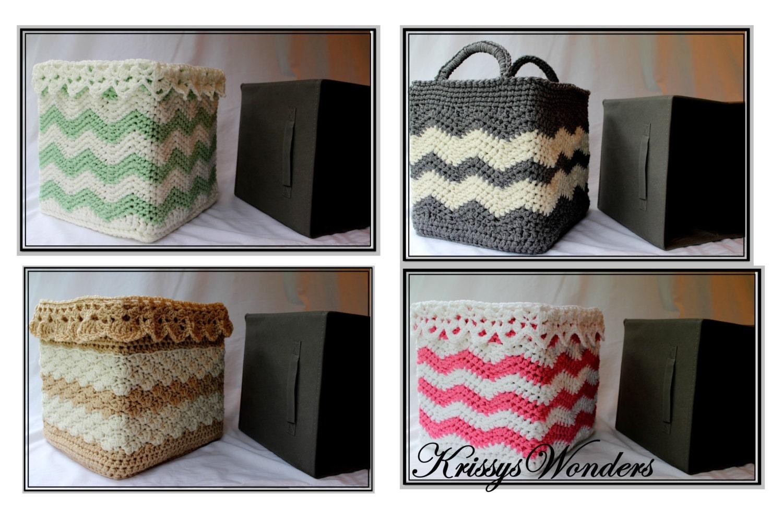 Crochet Basket Pattern Square Basket Pattern Drop Over