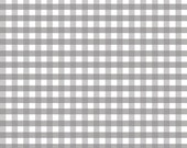 Riley Blake FABRIC - Medium Gingham - Grey