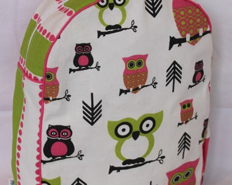 Handmade Owl Backpack for a Preschooler -Ready to Ship- SALE- CLEARANCE TAKE 30% off/no coupon code needed