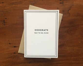Congrats: Cards for Dudes