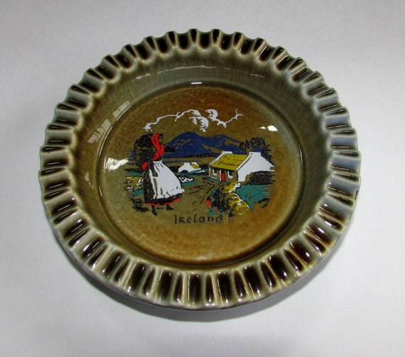 Blue Irish Porcelain Wade Ashtray