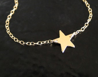 Gold Star Necklace, Tiny Star as Seen On  Kelly Ripa and Lea Michelle  -  Star in Gold Filled or Sterling Silver