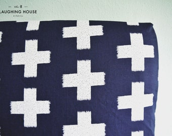 Fitted Crib Sheet (Crossed Impression in Night) - Gender Neutral Baby Bedding - Modern Baby - Nursery Fitted Sheet