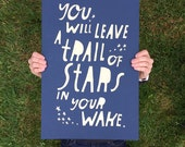Lisa Congdon Limited Edition Trail of Stars Screenprinted Poster