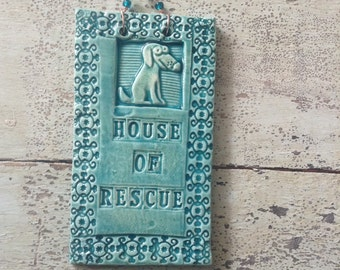 House of Rescue Doggy Ceramic Tile