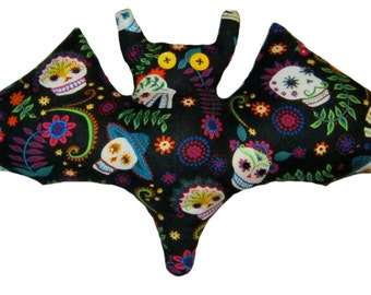 Day of the Dead Sequined Bat Pillow