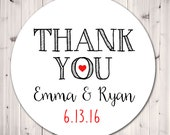 Personalized Wedding Stickers,Thank You Stickers, Personalized Stickers, Tags, Bridal Favor, Wedding, Party Favor, Gift Tags - Set of 12