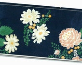 Checkbook Cover Hello Again floral duplicate check book cover or checkbook holder 7a