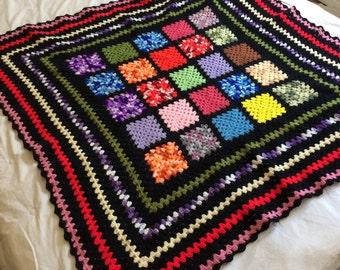 Big Vintage Afghan Blanket