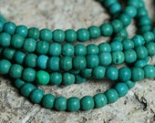 SALE Turquoise round 4mm, one 15-inch strand (item ID F4144KX)