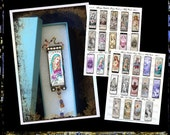 1 X 3,  Prayer Cards &  Holy Cards, COMBO  2 collage sheets...INSTANT DOWNLOAD at Checkout, religious slide pendants, ornaments
