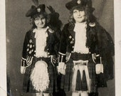 vintage photo Children Who DAnced before the Queen in England Scottish Step Dance Girls Named
