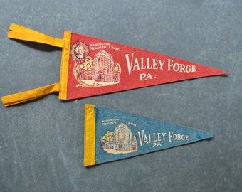vintage valley forge pennants
