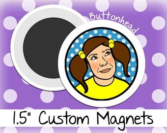 250 Custom Magnets Bulk 1.5 Inch (Medium) Round
