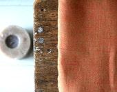 LINEN FABRIC - rust / mid weight linen fabric / european / flax / etsy australia / supplies by runningthreads