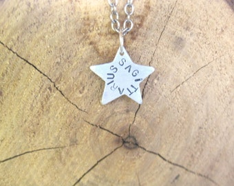 Zodiac Necklace-Sagittarius-Star Sign Star Astrology Necklace-Vegan Necklace-Vegan Jewelry-Eco Friendly-Horoscope-Recycled Metals