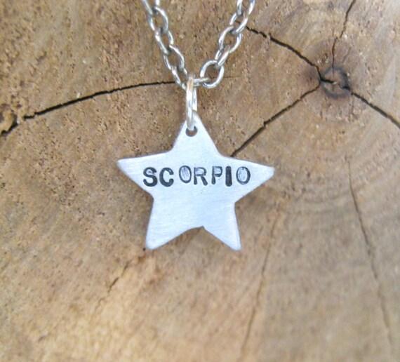 Zodiac Necklace-Scorpio-Star Sign Star Astrology Necklace-Vegan Necklace-Vegan Jewelry-Horoscope-Eco Friendly-Recycled Metals