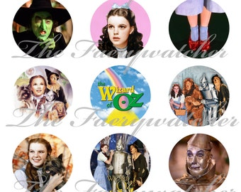 "1"" Inch Wizard of Oz Magnets, Pins or Flatback Buttons 12 Ct. Set D"