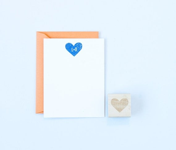 Heart & Initials Solid Stamp