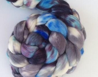 Stormy - hand-dyed top merino/silk 3.5 oz