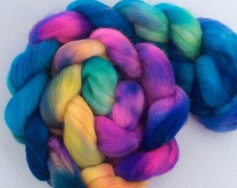 I Wanna Be a Rainbow When I Grow up - handdyed merino-top 3.5 oz
